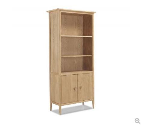 Skien Oak - Large Bookcase with Doors