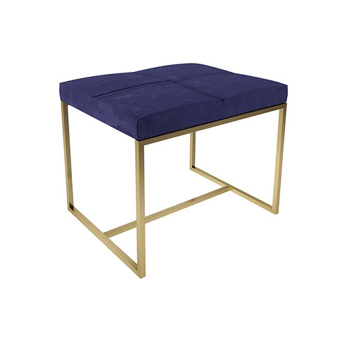 Small Federico Stool in Brass Frame