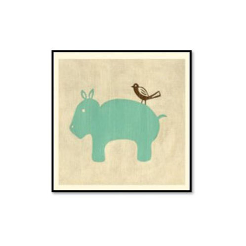 Best Friends- Hippo - Framed & Mounted Art