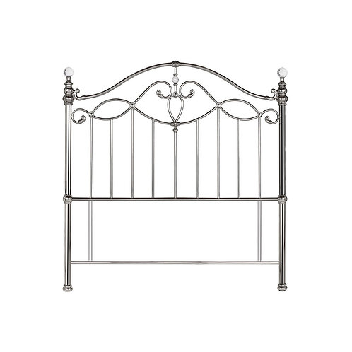 Elena Shiny Nickel Headboard - Small Double 122 cm
