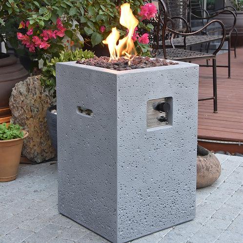 Boyle HPC Concrete Square Fire Pit in Light Grey