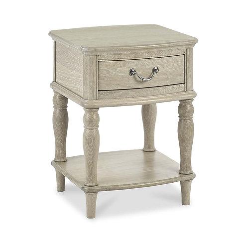 Bordeaux Chalk Oak Lamp Table With Drawer