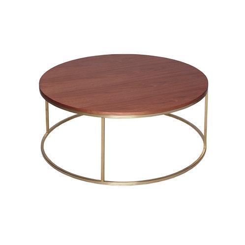 Kensal Circular Coffee Table - Brass Frame