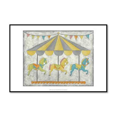 Carnival Carousel - Framed & Mounted