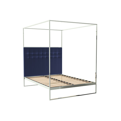 Double Federico Canopy Bed in Polished Frame