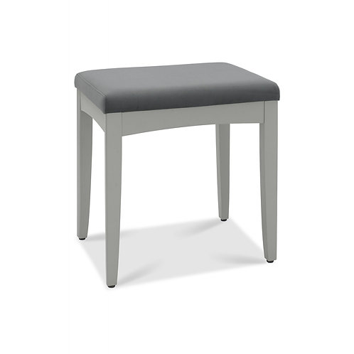 Whitby Scandi Oak & Grey Stool - Gun Metal Velvet