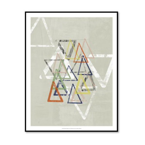 Stamped Triangles I - Framed & Mounted