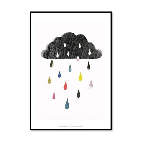 Rainy Day Rainbow II - Framed & Mounted Art