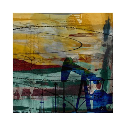 Oil Rig Abstract - Canvas Art
