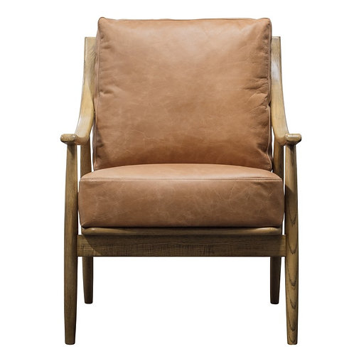 Archwell Armchair Brown Leather