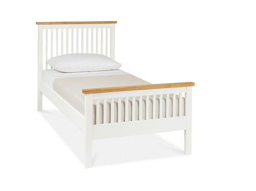 Atlanta Two Tone High Footend Bedstead - Single 90 cm