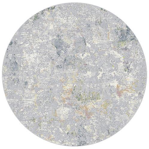Canyon - Earth IV Circular Rug - Morning Mist