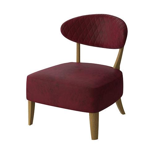 Margot Casual Chair - Crimson Velvet Fabric