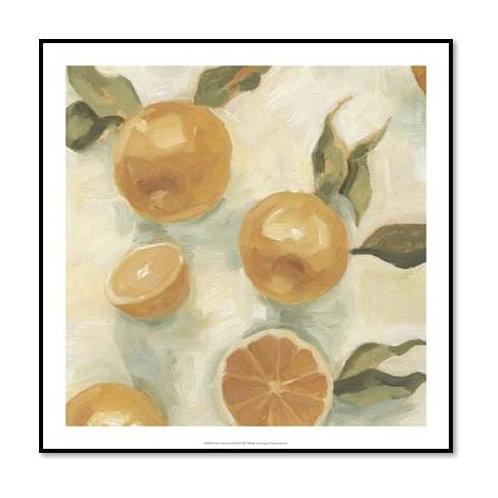 Citrus Study in Oil IV - Framed & Mounted Art