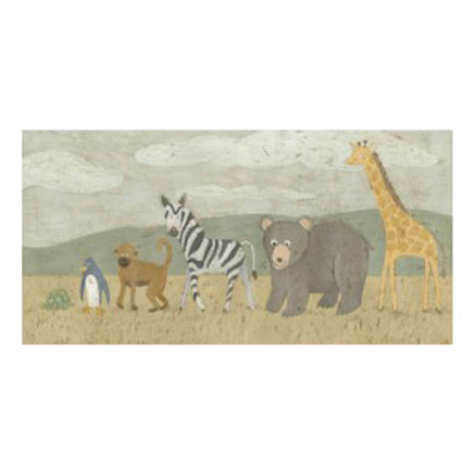 Animals All in a Row II - Canvas Art