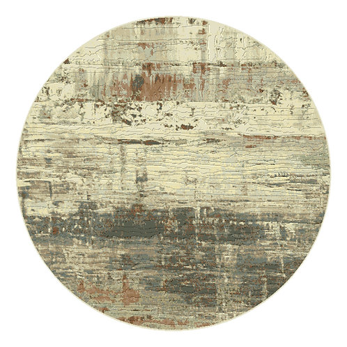 Galleria - Industrial Circular Rug - Copper