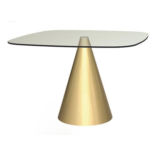 Oscar Large Square Dining Table - Brass Base