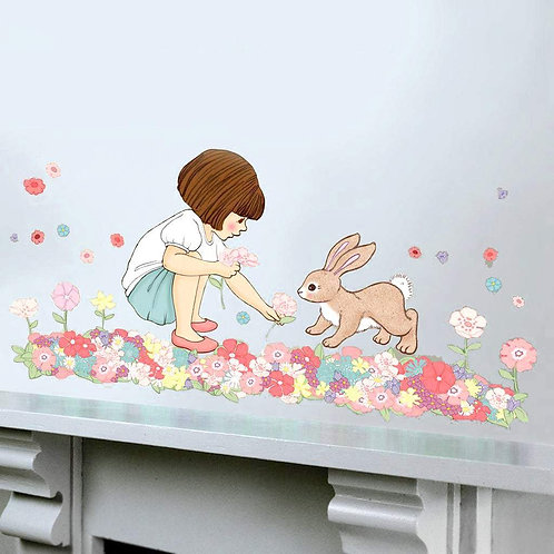 Belle's Meadow - Kids Wall Stickers