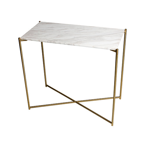 Iris Small Console Table - Brass Frame