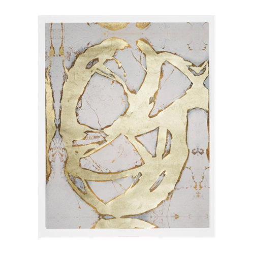 Ace of Spades in Gold II - Canvas Art