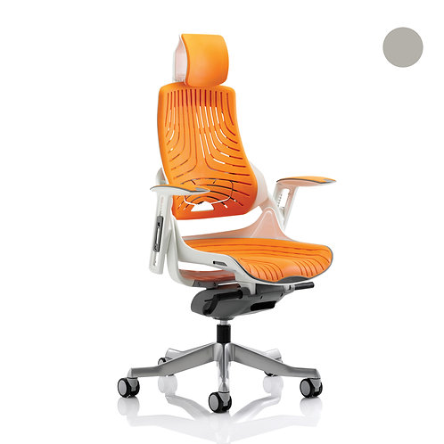 Zure Executive Chair Elastomer Gel With Arms & Headrest