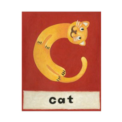 C is for Cat - Canvas Art