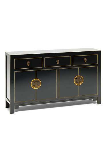 40530 - The Nine Schools Qing Black and Gilt Large Sideboard