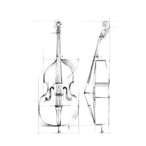 Bass Sketch - Canvas Art