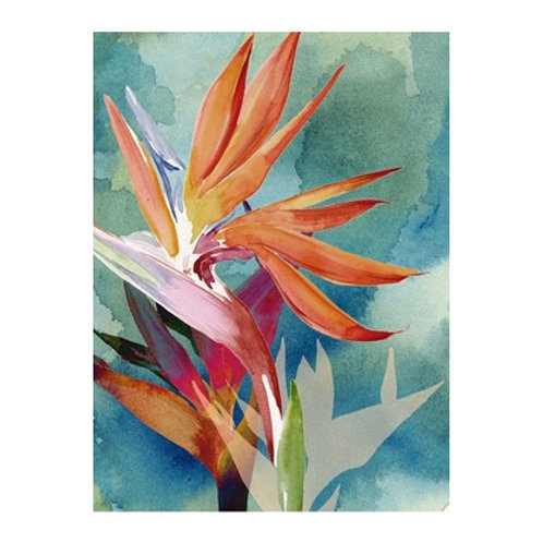 Vivid Birds of Paradise II - Canvas Art