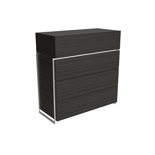 Federico Four Drawer Chest in Polished Frame