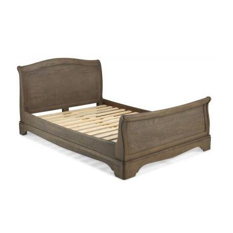 Sleigh Double Bed 4FT 6 - Colmar Oak