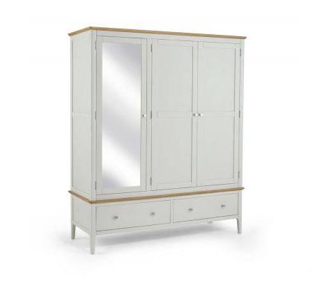 Branford Painted - Triple Wardrobe with Mirror