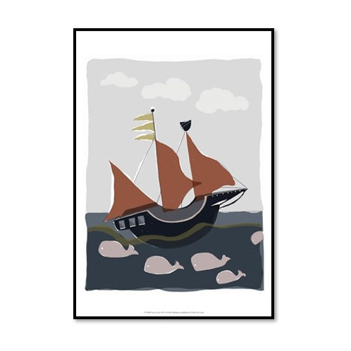 Oceans Ahoy II - Framed & Mounted Art