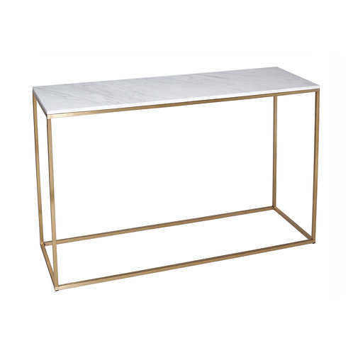 Kensal Console Table - Brass Frame