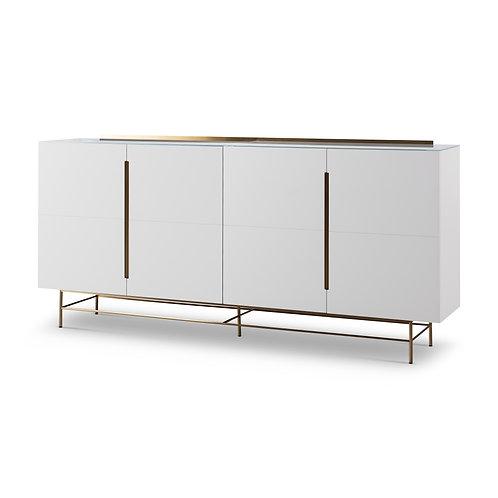 Alberto Four Door High Sideboard - White