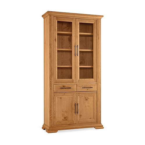 Belgrave Rustic Oak Display Cabinet