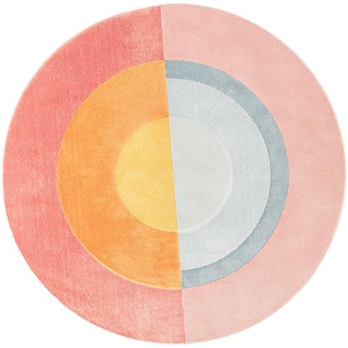 City - Moderna Circular Rug - Pink