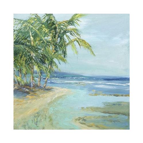 Blue Coastal Lagoon  - Canvas Art