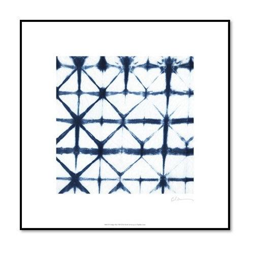 Indigo Tiles VIII - Framed & Mounted