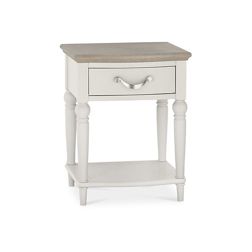 Montreux Grey Washed Oak & Soft Grey 1 Drawer Nightstand