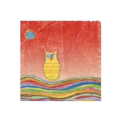 Feathers, Dots & Stripes VI- Canvas Art