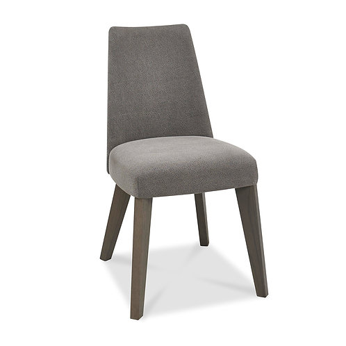 Cadell Aged Oak Upholstered Chair - Smoke Grey (Pair)