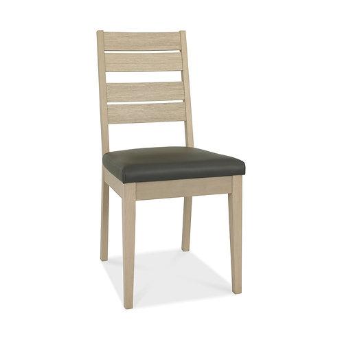 Oakham Scandi Oak Chair - Dark Grey Faux Leather (Pair)