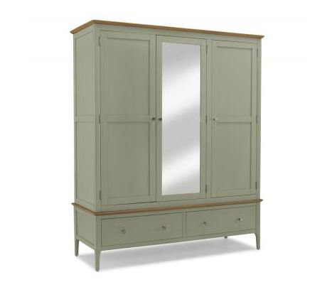Sedona Painted - Triple Wardrobe with Mirror