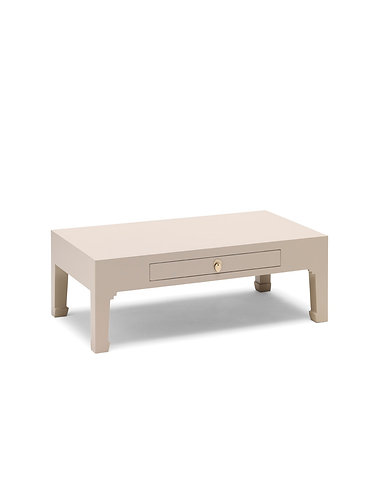 40644 - The Nine Schools Qing Oyster Grey Coffee Table with Drawer
