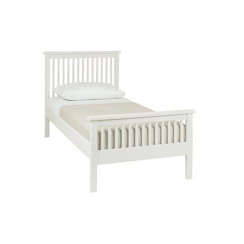 Atlanta White High Footend Bedstead - Single 90 cm