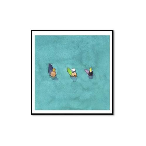 Beach Vibes II - Framed & Mounted Art
