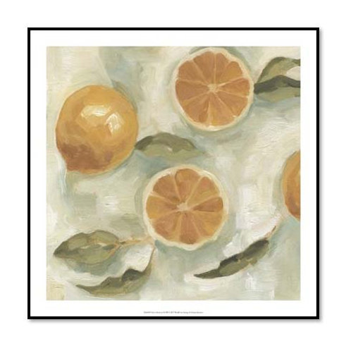 Citrus Study in Oil III - Framed & Mounted Art