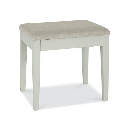 Ashby Soft Grey Stool - Pebble Grey Fabric