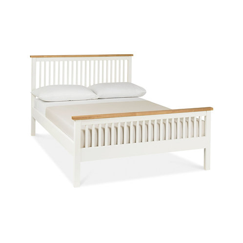 Atlanta Two Tone High Footend Bedstead - Double 135 cm